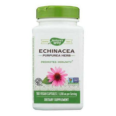 Nature's Way - Echinacea Purpurea Herb - 180 Capsules