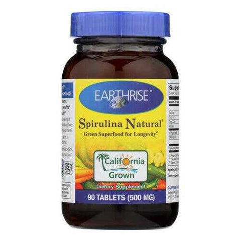 Earthrise Spirulina - 500 mg - 90 Tablets