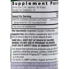 Nature's Answer - Green Tea Alcohol Free - 1 fl oz
