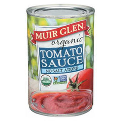 Muir Glen Tomato Sauce No Salt Added - Tomato - Case of 12 - 15 Fl oz.
