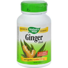 Nature's Way - Ginger Root - 100 Capsules