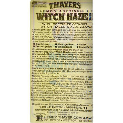 Thayers Witch Hazel with Aloe Vera Lemon - 12 fl oz