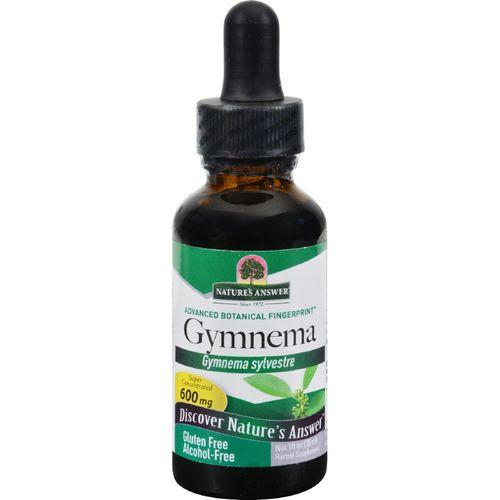 Nature's Answer - Gymnema Leaf Alcohol Free - 1 fl oz