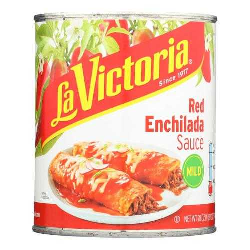 La Victoria Traditional Enchilada Sauce Mild - Case of 12 - 28 FZ