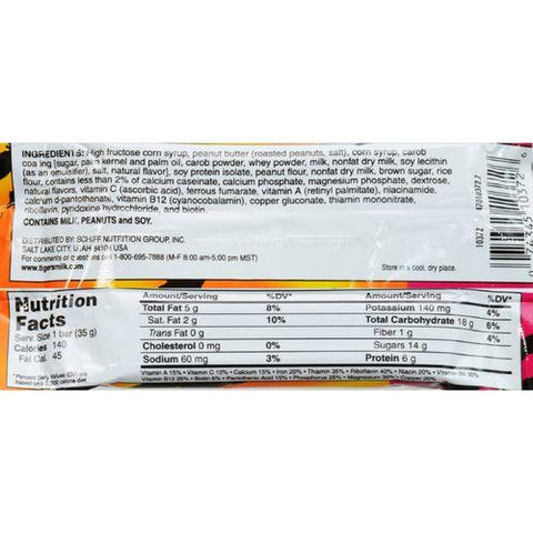 Tigers Milk Bar - Protein Rich - 1.23 oz - Case of 24
