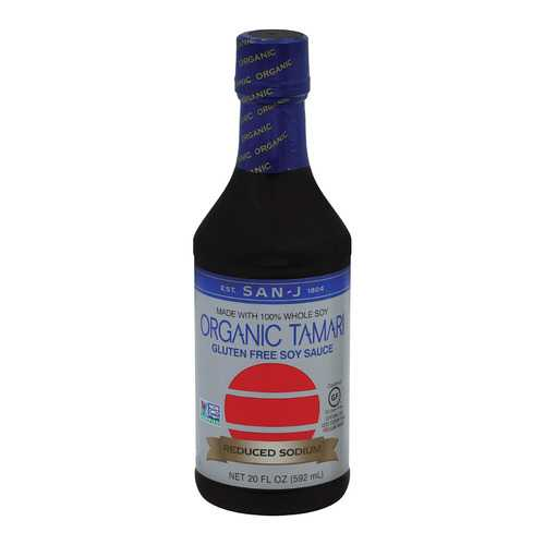 San - J Tamari Soy Sauce - Case of 6 - 20 Fl oz.