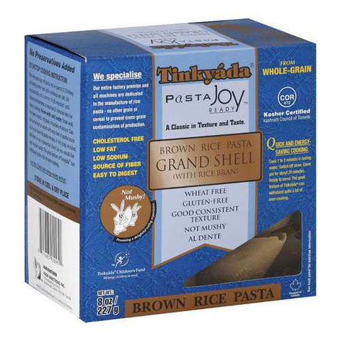 Tinkyada Brown Rice Pasta - Grand Shell - Case of 12 - 8 oz