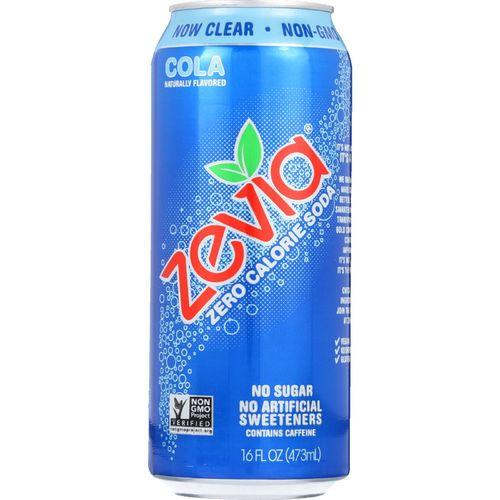 Zevia Soda - Zero Calorie - Cola - Tall Girls Can - 16 oz - case of 12