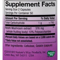 Nature's Way - Reishi Standardized - 100 Capsules