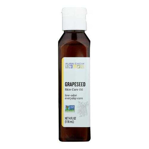 Aura Cacia - Natural Skin Care Oil Grapeseed - 4 fl oz