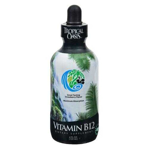 Tropical Oasis Vitamin B12 Dropper Strawberry - 4 fl oz