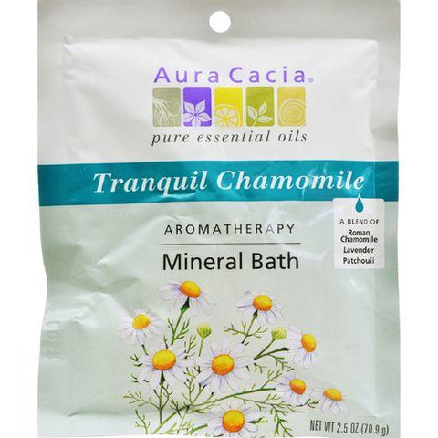 Aura Cacia - Aromatherapy Mineral Bath Tranquility - 2.5 oz - Case of 6