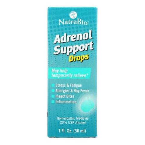 NatraBio Adrenal Support - 1 fl oz