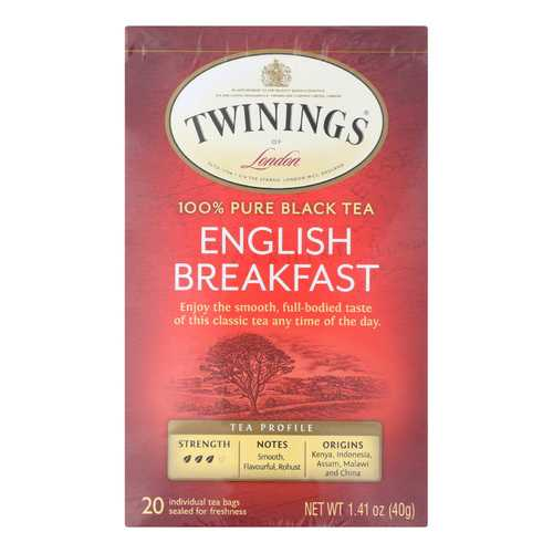 Twining's Tea English Breakfast Tea - Black Tea - Case of 6 - 20 Bags
