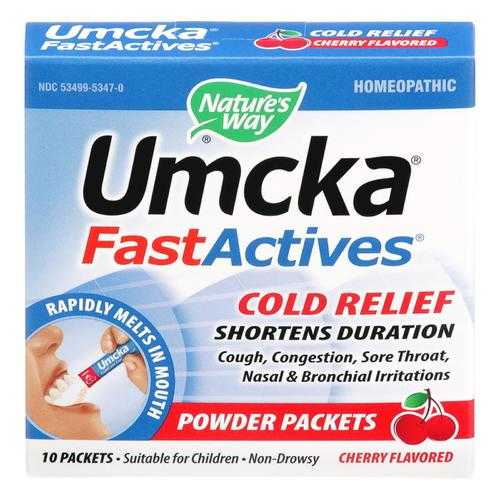 Nature's Way - Umcka Fast Act Cold - Cherry - 10 count