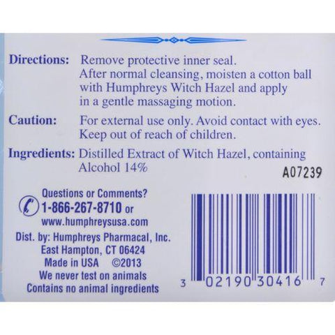 Humphrey's Homeopathic Remedy Witch Hazel Astringent - 16 fl oz