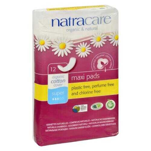 Natracare Natural Maxi Pads Super  - 12 Pack