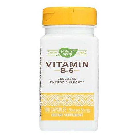 Nature's Way - Vitamin B-6 - 100 mg - 100 Capsules