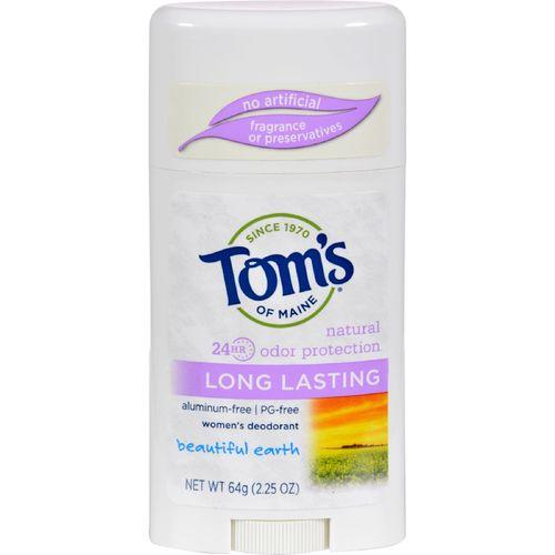Tom's of Maine Natural Women's Deodorant - Beautiful Earth - Case of 6 - 2.25 oz