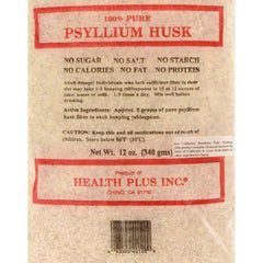 Health Plus - Pure Psyllium Husk - 12 oz