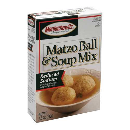 Manischewitz - Matzo Ball and Soup Mix - Low Sodium - Case of 12 - 4.5 oz