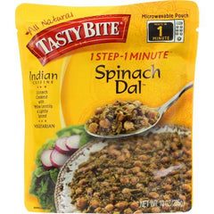 Tasty Bite Entree - Indian Cuisine - Spinach Dal - Indian - 10 oz - case of 6