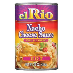 El Rio Nacho Cheese Sauce - Hot - Case of 12 - 15 oz.