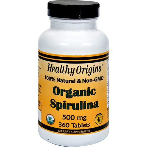 Healthy Origins Organic Spirulina - 500 mg - 360 Ct