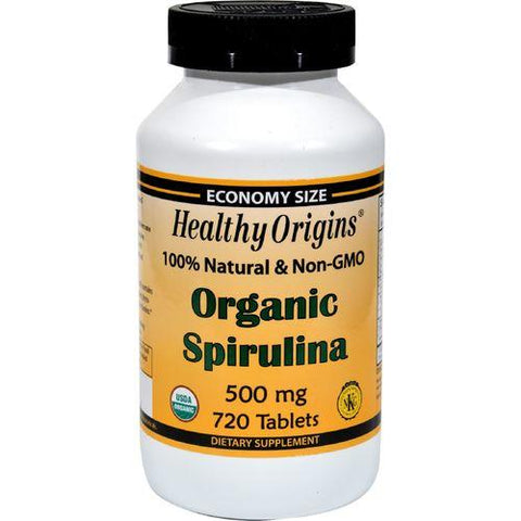 Healthy Origins Organic Spirulina - 500 mg - 720 Ct