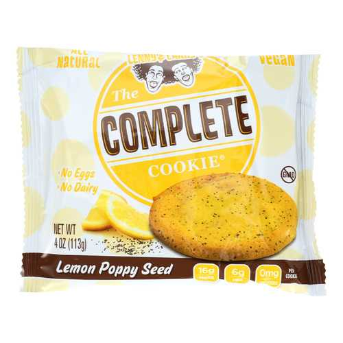 Lenny and Larry's The Complete Cookie - Lemon Poppyseed - 4 oz - Case of 12