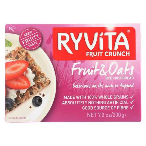 Ryvita Crisp Bread Crispbread - Currants Seeds and Oats - Case of 8 - 7 oz.