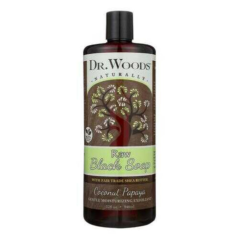 Dr. Woods Naturals Black Soap - Shea Vision - Coconut - 32 oz