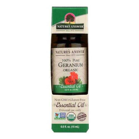 Nature's Answer - Organic Essential Oil - Geranium - 0.5 oz.