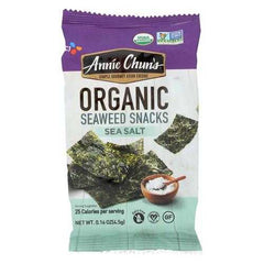 Annie Chun's Seaweed Snack - Sea Salt - Case of 12 - .16 oz.