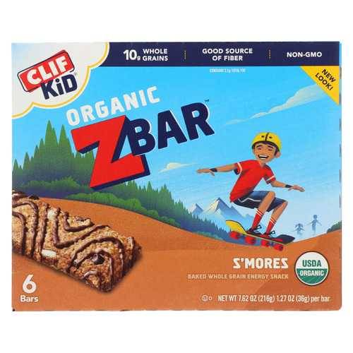 Clif Kid Zbar - Smores - Case of 9 - 7.62 oz