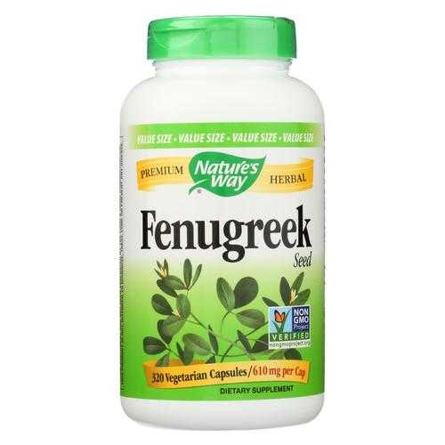 Nature's Way - Fenugreek Seed - 320 Veg Capsules