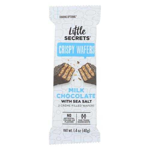 Little Secrets Crispy Wafer - Milk Chocolate With Sea Salt - Case of 12 - 1.4 oz.