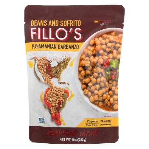 Fillo's Beans - Panamanian Garbanzo - Case of 6 - 10 oz.