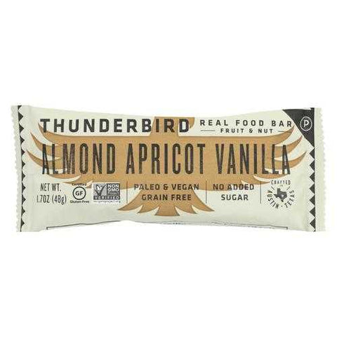 Thunderbird - Real Food Bar - Almond Apricot Vanilla - Case of 15 - 1.7 oz.