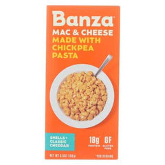 Banza - Chickpea Pasta Mac and Cheese - Shells and Classic Cheddar - Case of 6 - 5.5 oz.