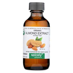Spicely Organics - Organic Extract - Almond - Case  of 6 - 2 fl oz.