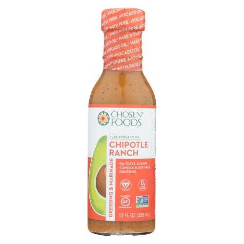 Chosen Foods - Avocado Oil Dressing and Marinade - Chipotle Ranch - Case of 6 - 12 fl oz.
