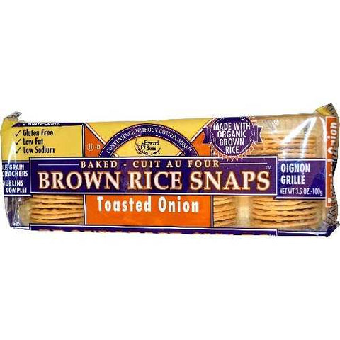 Edward & Sons Onion Brown Rice Snaps (12x3.5 Oz)