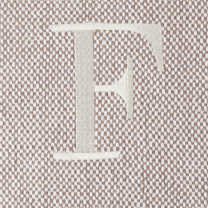 F INITIAL THROW BLANKET