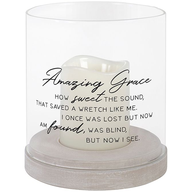 """AMAZING GRACE"" GLASS HURRICANE"