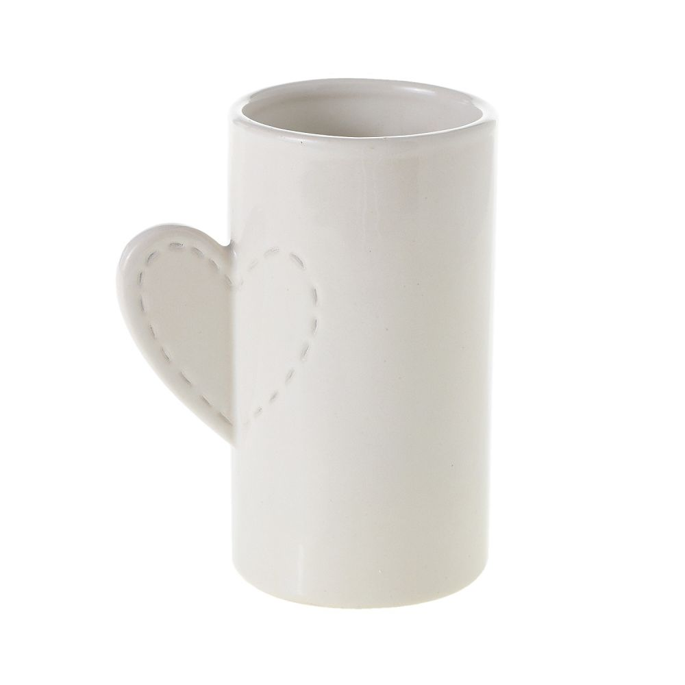 LOVE STITCH WHITE VASE