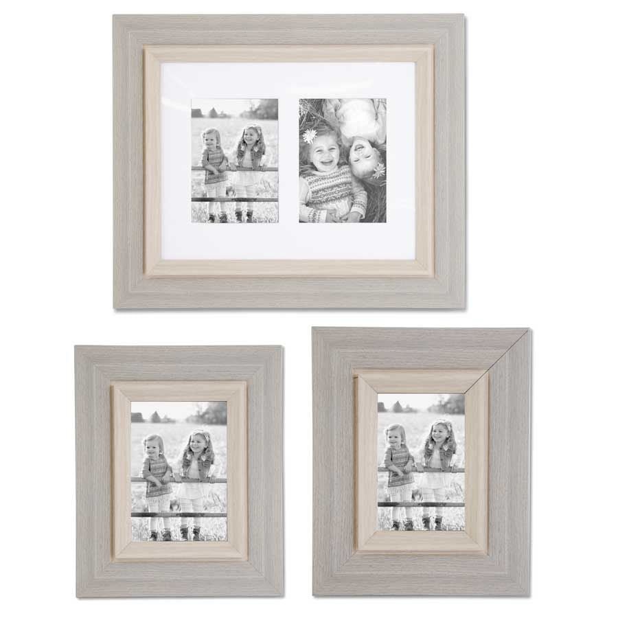 GRAY WOOD 4X6 PHOTO FRAME