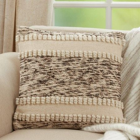 IVORY WOVEN TEXTURE PILLOW