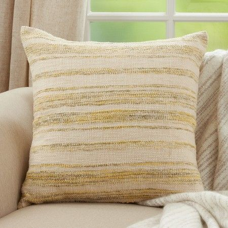 YELLOW STRIPED SQUARE PILLOW