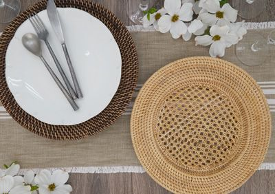 BROWN RATTAN CHARGER